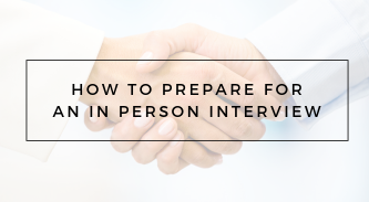 Preparation for In-Person Interview RA105